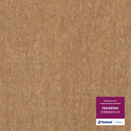 Линолеум TRAVERTINE - TERRACOTTA 01
