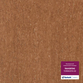 Линолеум TRAVERTINE - TERRACOTTA 02